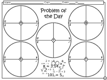 Problem of the Day - 8th Math TEKS Readiness Standards