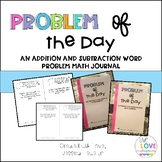 Problem of the Day Addition and Subtraction Math Journal Bundle