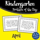 Kindergarten Problem of the Day - April