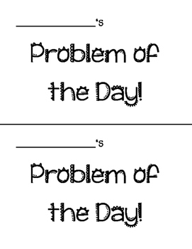 Problem of the Day Booklets