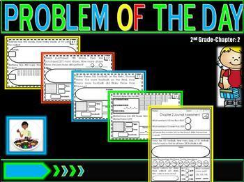 """Problem of the Day Chapter 2 2nd Grade """"Go Math"""""""