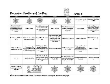 Problem of the Day (December Gr.3)