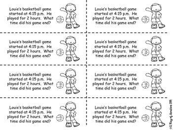 Elapsed Time Word Problems {Problem of the Day}