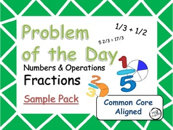 Problem of the Day (Fractions) *SAMPLE PACK* Word Problems