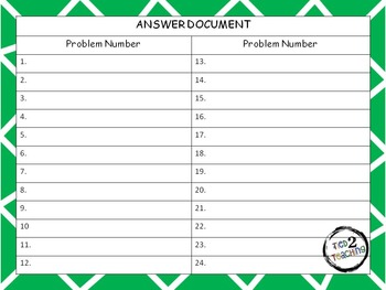 Problem of the Day (Fractions) Word Problems for the Middle Grades
