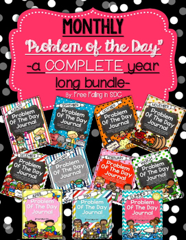 Problem of the Day-COMPLETE YEAR BUNDLE (daily word problems for the whole year)