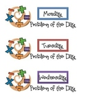 Problem of the Day Labels Monday-Friday
