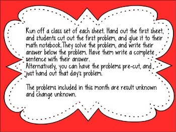 Problem of the Day Math Interactive Notebook