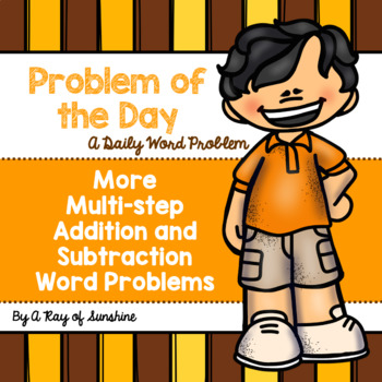 More Multi-step Addition and Subtraction Word Problems {Problem of the Day}
