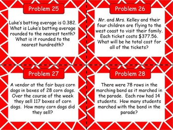 Problem of the Day (Number Base 10) Word Problems for the Middle Grades