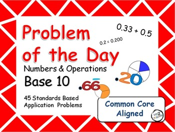 Problem of the Day (Number Base 10) Word Problems for the