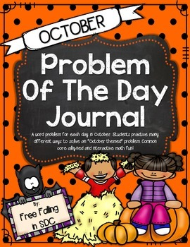 Problem of the Day-OCTOBER (daily word problem practice)