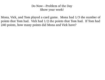 Problem of the Day Part 1