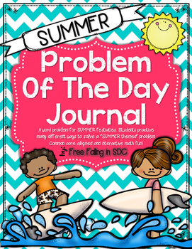 Problem of the Day-SUMMER (30 different daily math word pr