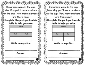 1st Grade Word Problem of the Day Story Problems- Bundle