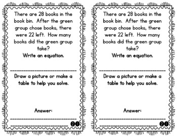 Problem of the Day Story Problems 1st Grade- March