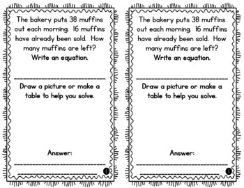 Problem of the Day Story Problems 1st Grade- May