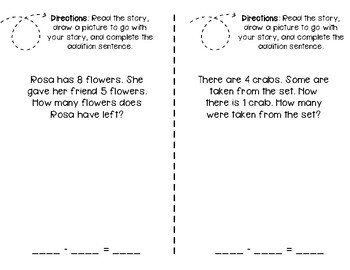 Problem of the Day Subtraction Word Problem Math Journal