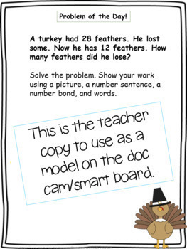 First Grade Word Problems & Number of the Day WHOLE YEAR Mega Bundle!!