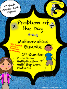 Math Problem of the Day with Modeled Writing-Fourth Grade-First Quarter