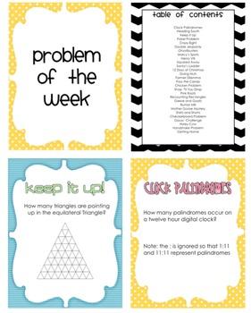 Problem of the Week (28 Weeks)