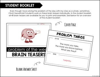 Problem of the Week Brain Teaser