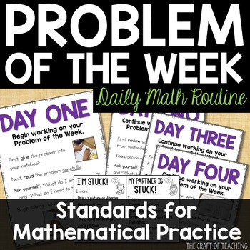 Problem of the Week Classroom Routine Materials