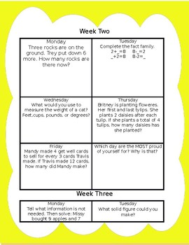 Problem of the day: 19 full weeks!
