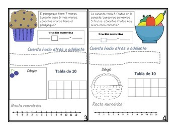 Problem of the day addition and subtraction in Spanish
