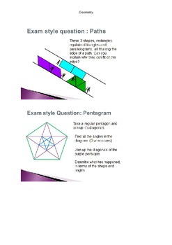 Problem solving Geometry Worksheet