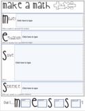 Problem solving Graphic Organizer- Make a math MESS- Print and Digital