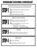 Problem solving checklist for math