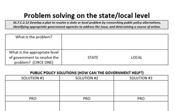 Problem solving on the state/local level