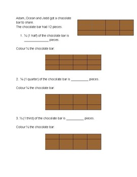 Problem solving using fractions (half, quarter, third, two quarters, two thirds)