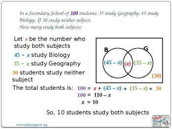 Problem solving with Venn-diagrams