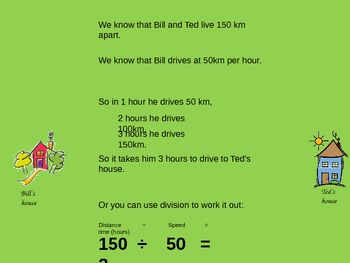 Problem solving with distance and time