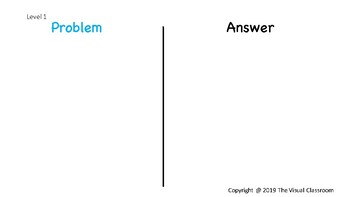 Problem vs. Answer Sorting Activity
