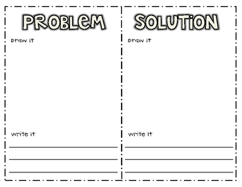 problem solution writing printable by jeremie tharp tpt problem solution writing printable