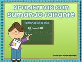 Problemas de Matemáticas con Sumando Faltante