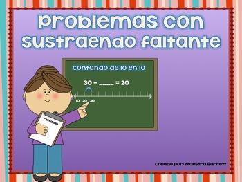 Problemas de Matemáticas con Sustraendo Faltante