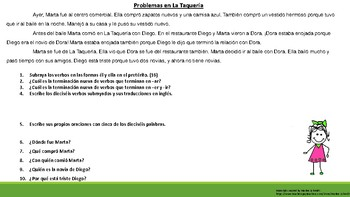 Problemas en La Taqueria - Diego, Marta, and Dora part 1 - preterite tense