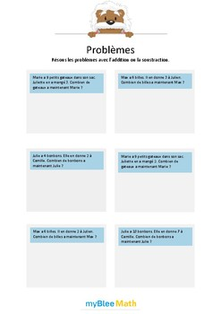 Problèmes - Addition et soustraction -CE1