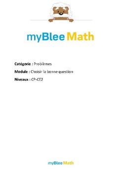 Problèmes - Choisir la bonne question -CE1