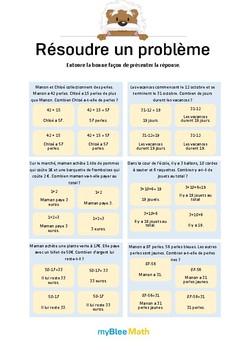 Problèmes - Méthode pour résoudre un problème -CE1