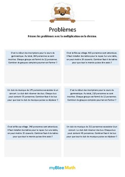 Problèmes - Multiplication et division -CE2-CM2