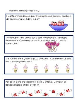 Problèmes de math (écrits)-Math Word Problems