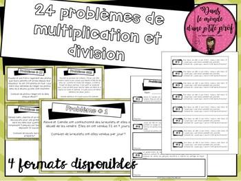 Problèmes de multiplication/division // French Word Problems