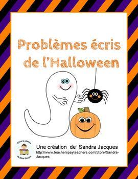 Problèmes écrits de l'Halloween (Halloween Word Problems i