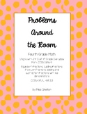 Problems Around the Room- Fractions! (Unit 5 Review for Gr