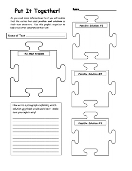 Problems & Solutions Template - Put It Together!